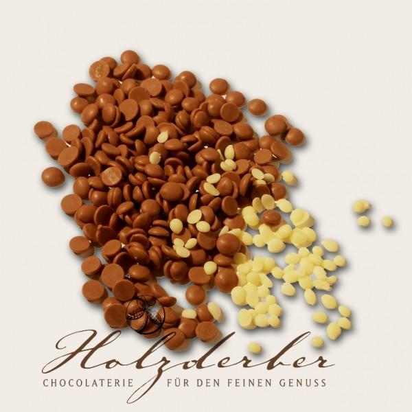 800g Edelvollmilch Schokolade & 50g Kakaobutter