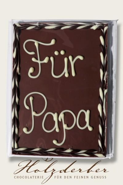 """Deko Tafel """"Für Papa"""" Edelvollmilch Schokolade"""