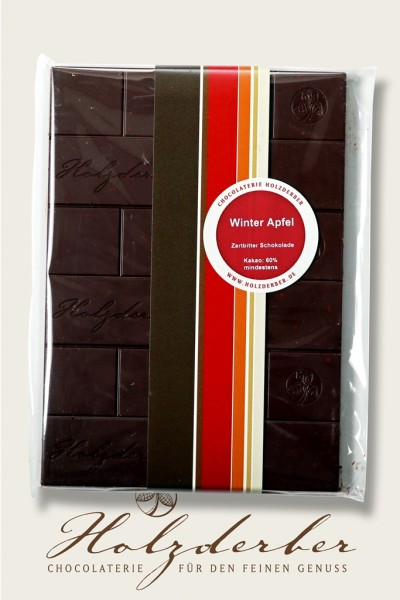 Winter Apfel Zartbitter Schokolade