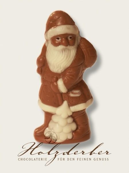 Weihnachtsmann Edelvollmilch Schokolade handbemalt 14 cm