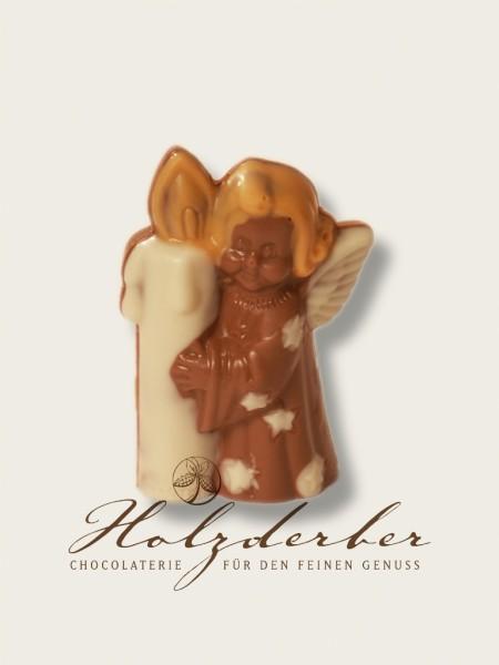 Engel aus Edelvollmilch Schokolade handbemalt 10 cm